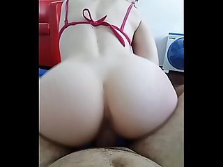 Ep 3 His sister is abusing her older brother's dick. Excited with ohmibod and Ride My Cock