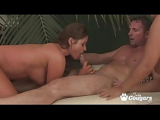 Cathy Heaven & Two Hot Girlfriends Ass Fucks In An Orgy