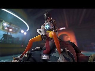 Tracer x Roadhog (sound) HENTAI - more videos..