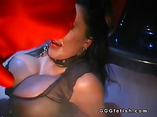 Slut with big boobs gets Anal Fucking