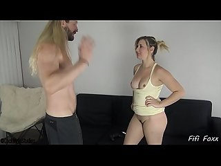 sister blackmails brother into fucking her - fifi foxx and cock ninja