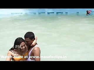 Desi girl hot bikini and romance at swimpool