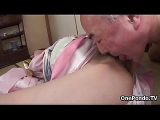 Horny older man loves licking