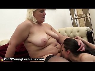 Real mature lesbian exploring the body