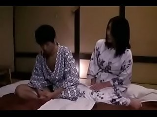 Sons first time sex with japanese mom