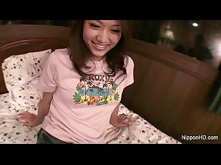 Asian girl plays with herself