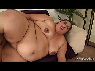 Fat and horny BBW rides a long stiff cock