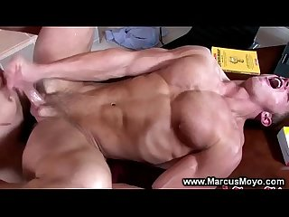 Blond gay jock jerks off whille getting ass fucked