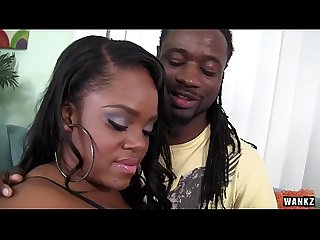 WANKZ - Samone Taylor Enjoys Working Big Black Ass Down Monster Cock