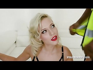 Private.com - Blonde Nympho Ria Sunn Takes on 4 Black Cocks!