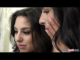 TS hottie Chanel Santini fucks a girl