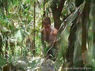 Big Dick Brazilian Jungle Fuck Threesome