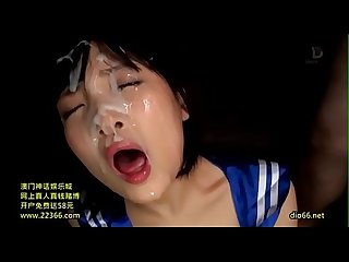 Japanese girl gets epic bukkake - 7 huge loads