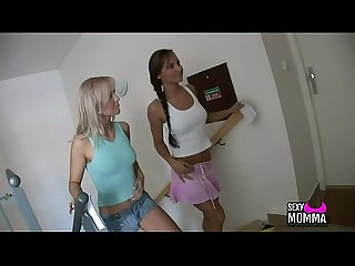 Sexymomma com 2 very wet horny stepsister love family thing with boo in 3some