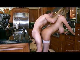 Busty Kelly Madison Doing The Dishes And Fucking Cock