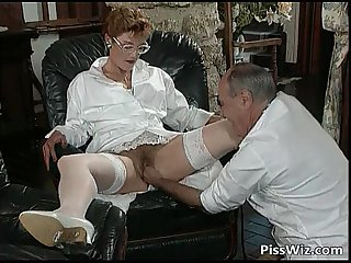 Mature couple love dirty sex and taste