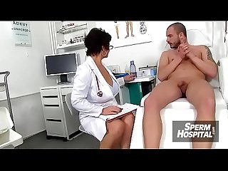 Big tits at handjob hospital featuring european lady greta