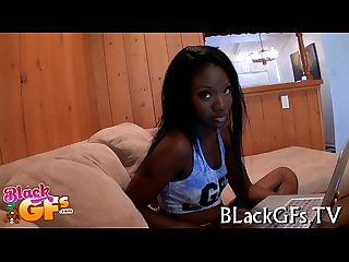 Moist black beauty licks and rides