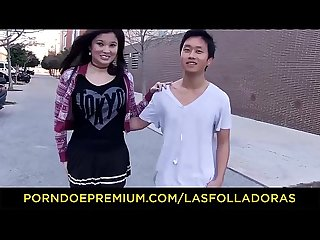 Las folladoras asian Pornstar miyuki son fucks spanish and chinese guys while redhead is watching