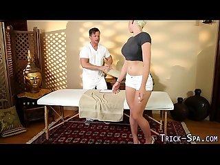 Busty teen massage fucked