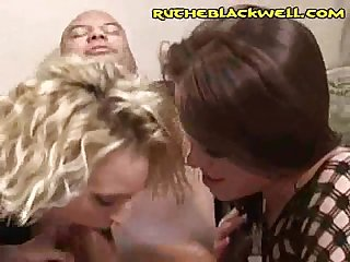 Interracial Deepthroat Threesome