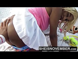 Innocent Black Model Msnovember Get Panties Pulled Off Of Her Butt Then Her Nasty Ebony Tiny..