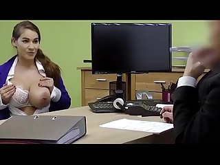Sexy girls with big tits fuck with her boss