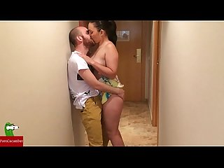 Horny couple fucks on arrival at hotel