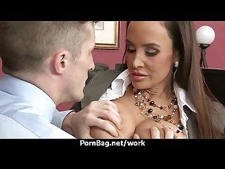 Hot big-boob office slut fuck boss' big-dick 24