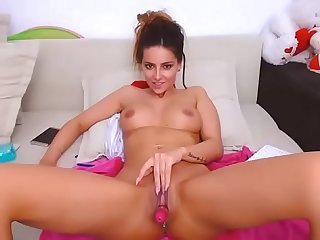 Sexy brunette spreads her legs wide on cam camgirlsuntamed com