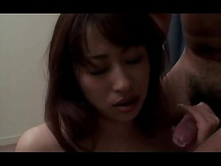 Blowjob expert Japanese slut fucked hard in her slit in threesome