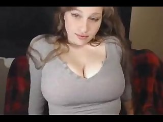 Busty cam girl masturbates amateur more at cum2her.com