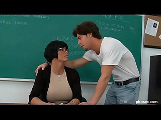 Shay fox naughty schoolteacher fucked on desk in class