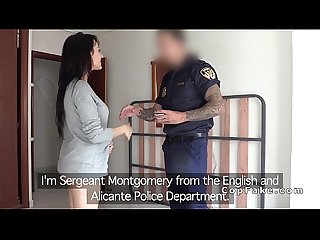 British fake cop tits fucks Spanish amateur babe
