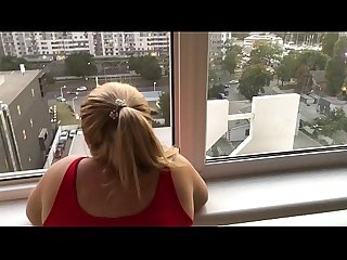 Ukrainian teenagers has sex on the balcony