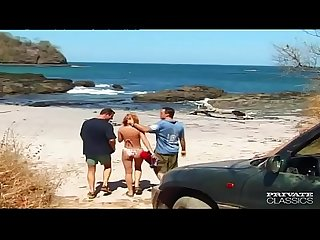 Agnes Dp threesome in the beach