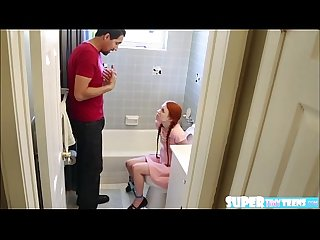 Redhead babe dolly little gets hammered hard by mr largos huge cock