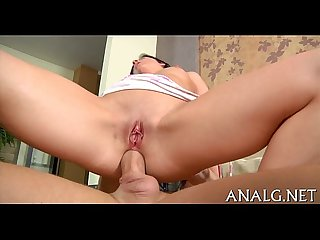 Juicy anal creampie for cute playgirl