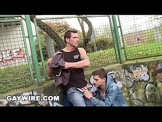 GAYWIRE - Marek & Johnny Have Anal Sex In Public After Playing Basketball