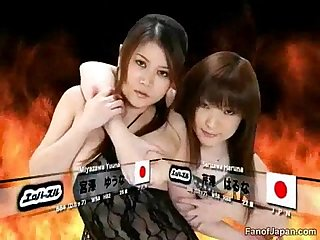 During a japanese game show two female candidates ha from http alljapanese net