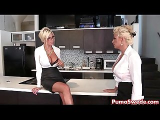Puma swede bobbi are the lesbian office slut
