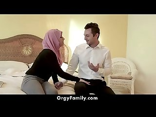 Hot Muslim Girl in Hijab Gets Fucked By Her Brother | OrgyFamily.com