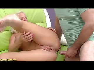 Crazy 73 years old granny rough anal fucked
