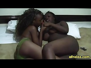 Oral sex action of hot ebony dykes