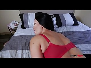 Busty british mom is unsatisfied with dads cock