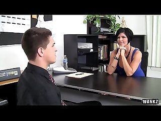 Wankz busty milf boss fucked over her own desk