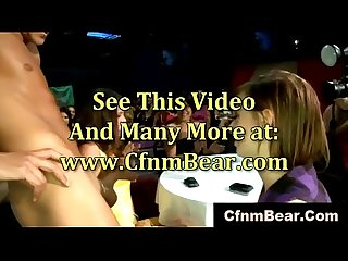 Cfnm party babes suck cock at cfnm club