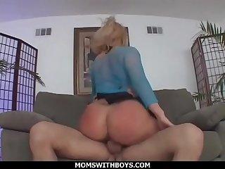 MomsWithBoys - Ass To Mouth Anal Blonde MILF Fuck Slut Georgia Peach