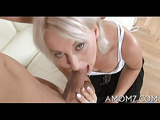 Mom entreats for cock in her slit