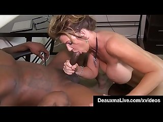 Big Boobed Texas Cougar Deauxma Mouth Fucks Big Black Cock!